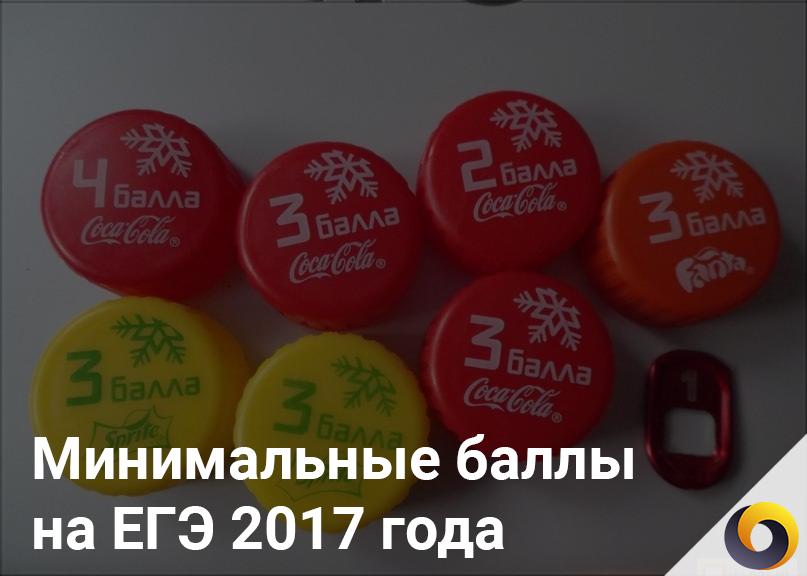 Минимальные баллы на ЕГЭ 2018